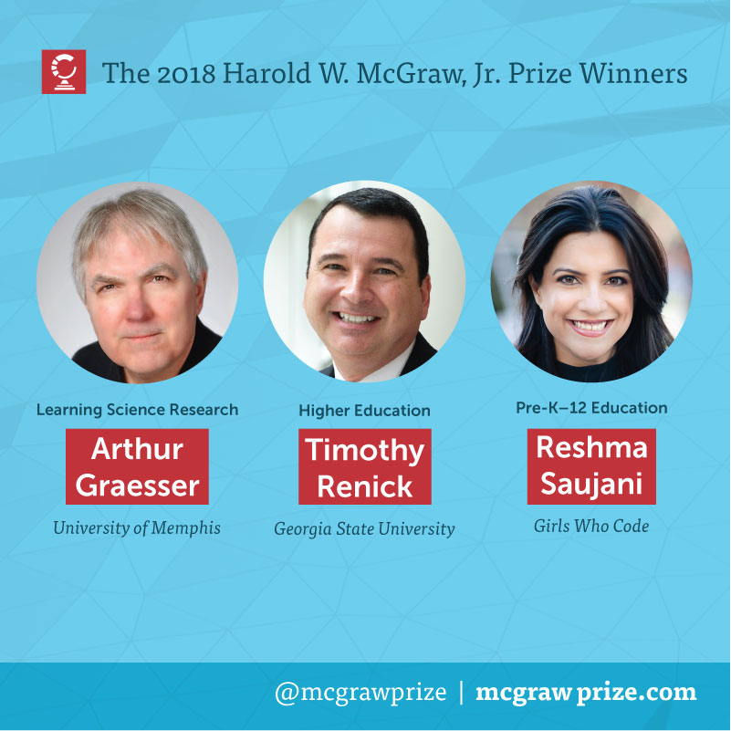 The 2018 Harold W. McGraw, Jr. Prize Winners