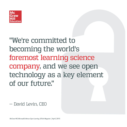 David Levin on McGraw-Hill Education's learning science vision.