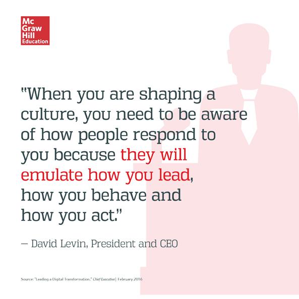 David Levin Quote for CEO Magazine
