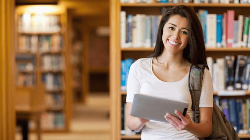 Student using digital