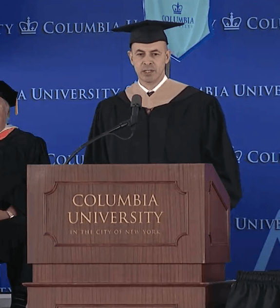 David Levin Graduation Speech at Columbia University