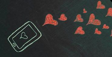 mobile phone and hearts