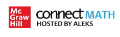 ConnectMath Hosed by ALEKS Logo