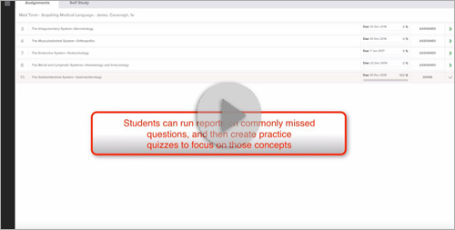 Smartbook: Creating Practice Quizzes Based on Commonly Missed Questions