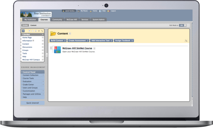 Example of SIMnet integrating with a LMS