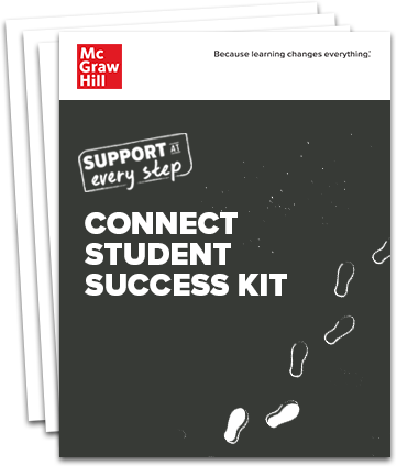 Stack of pages with the title Connect Student Success Kit