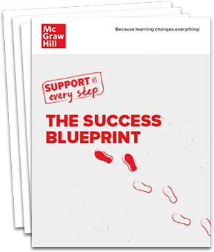 Stack of pages with the title Success Blueprint