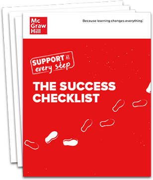 Stack of pages with the title Success Checklist