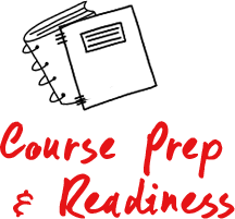 Course prep and readiness Sketch of Binder and notebook