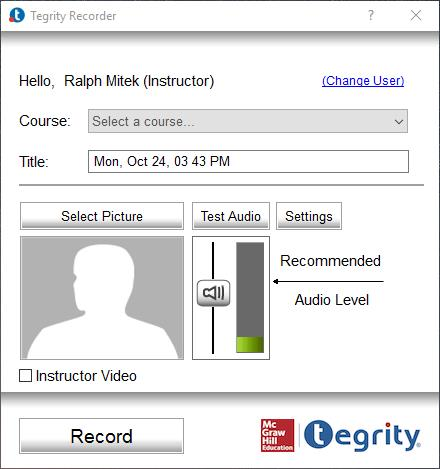 Tegrity Recorder screenshot