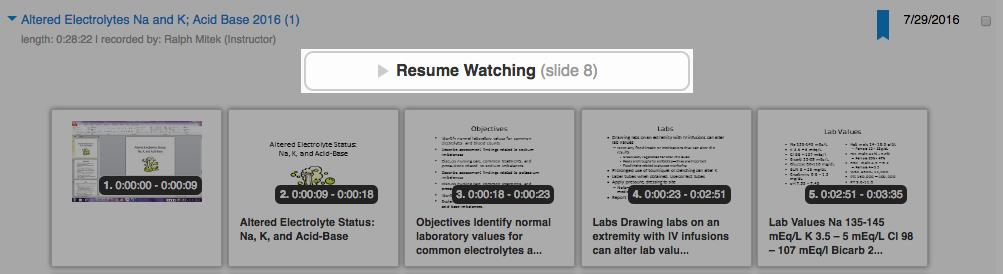 Resume Playback screenshot