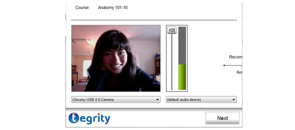 woman on tegrity screenshot