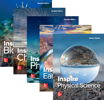 Inspire Science, High School covers