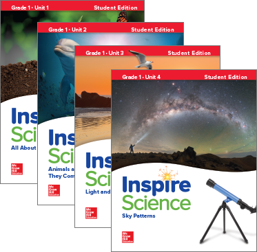 Inspire Science, Grade 1 covers