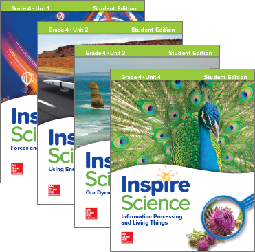 Inspire Science, Grade 4 covers