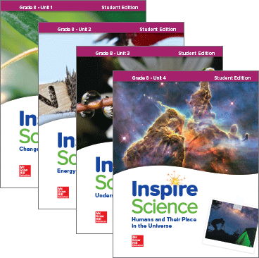 Inspire Science, Grade 8 covers