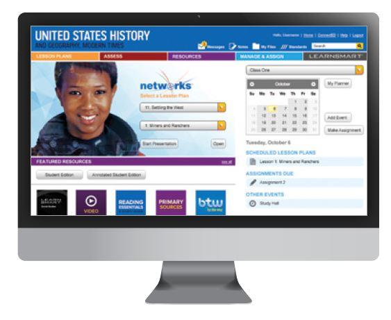 Screenshot of the home screen of the Online Teacher Center