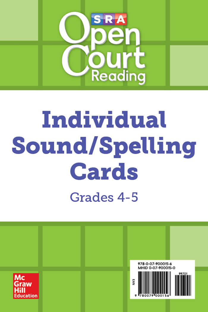 Cover of Grade 4 Sound/Spelling Cards