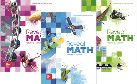 Reveal Math 6-8 Cover images
