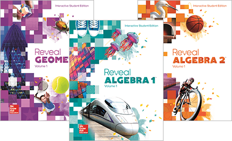 Reveal Math 9-12 Cover images