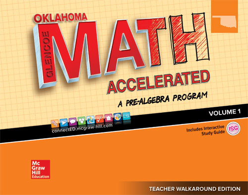 Oklahoma Glencoe Math Accelerated cover