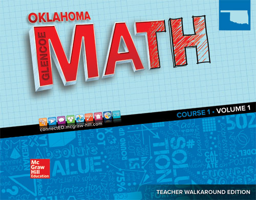 Oklahoma Glencoe Math Course 1 cover