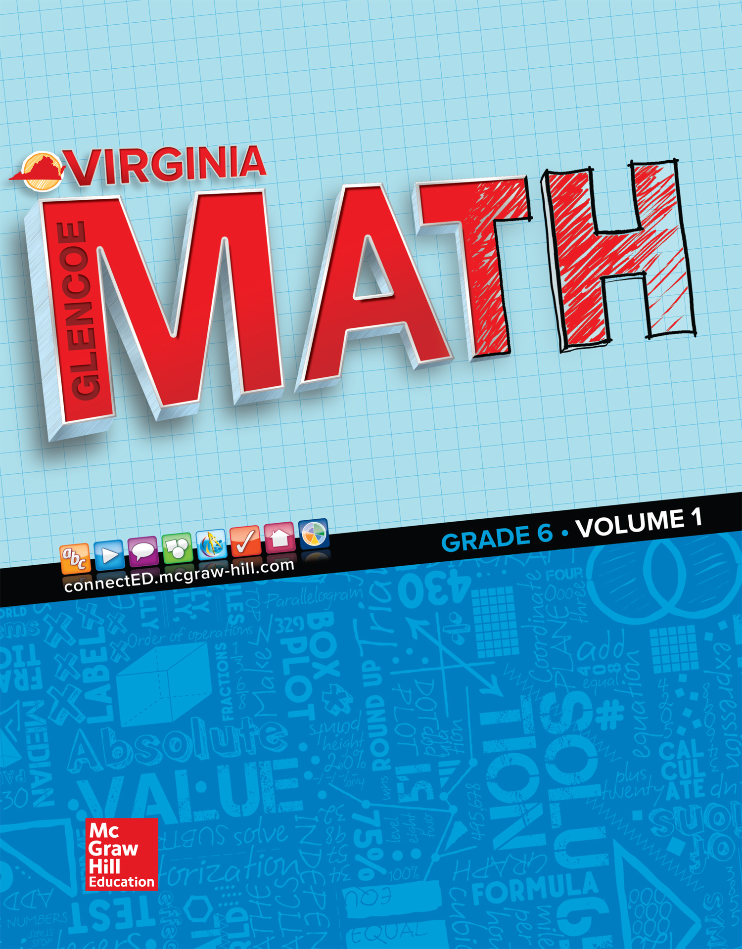 Virginia Glencoe Math Grade 6 cover