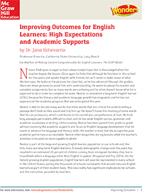 Whitepaper: Improving Outcomes for English Learners: High Expectations and Academic Supports