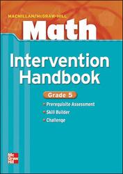 Macmillan/McGraw-Hill Math, Grade 5, Intervention Handbook