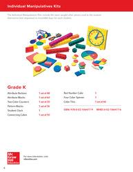 My Math, Grade K, Individual Manipulative Kit