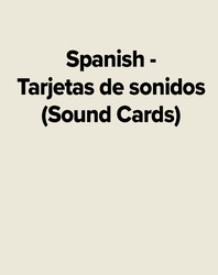 Spanish - Tarjetas de sonidos (Sound Cards)