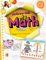 McGraw-Hill My Math, Grade K, Student Edition, Volume 1