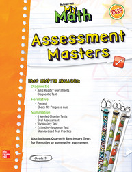 McGraw-Hill My Math, Grade 3, Assessment Masters