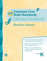 Treasures CCSS, Grade K, Handbook Blackline Master Grade K