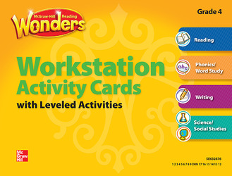 Reading Wonders, Grade 4, Workstation Activity Cards Package