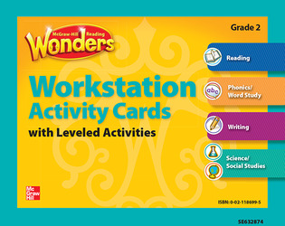 Reading Wonders, Grade 2, Workstation Activity Cards Package Grade 2