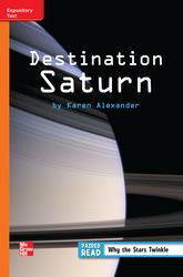 Reading Wonders Leveled Reader Destination Saturn: Approaching Unit 3 Week 3 Grade 3