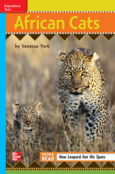 Reading Wonders Leveled Reader African Cats: On-Level Unit 6 Week 4 Grade 3