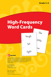 Reading Wonders, Grades 3-6, High Frequency Word Cards