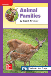 Reading Wonders Leveled Reader Animal Families: ELL Unit 2 Week 4 Grade 2