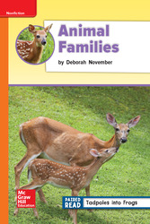 Reading Wonders Leveled Reader Animal Families: Approaching Unit 2 Week 4 Grade 2