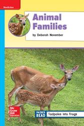 Reading Wonders Leveled Reader Animal Families: On-Level Unit 2 Week 4 Grade 2
