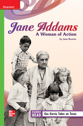 Reading Wonders Leveled Reader Jane Addams: A Woman of Action: Beyond Unit 4 Week 3 Grade 5