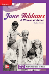Reading Wonders Leveled Reader Jane Addams: A Woman of Action: ELL Unit 4 Week 3 Grade 5
