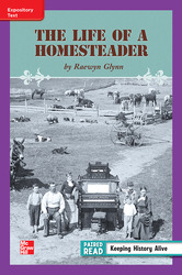 Reading Wonders Leveled Reader Life of a Homesteader ELL Unit 3 Week 5 Grade 3