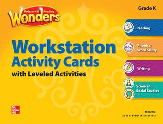 Reading Wonders Workstation Activity Cards Grade K