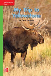 Reading Wonders Leveled Reader My Trip to Yellowstone: Beyond Unit 8 Week 2 Grade K