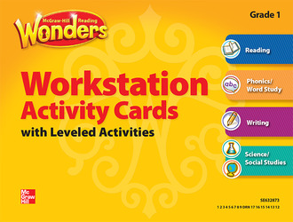 Reading Wonders, Grade 1, Workstation Activity Cards Package