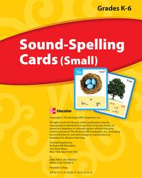 Wonders, Sound Spelling Cards (Small) Grades K-6