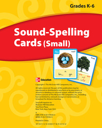 Wonders, Sound Spelling Cards (Small) Grades K-6